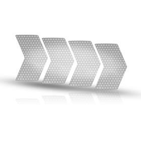 Riesel Design re:flex rim Naklejki odblaskowe, srebrny